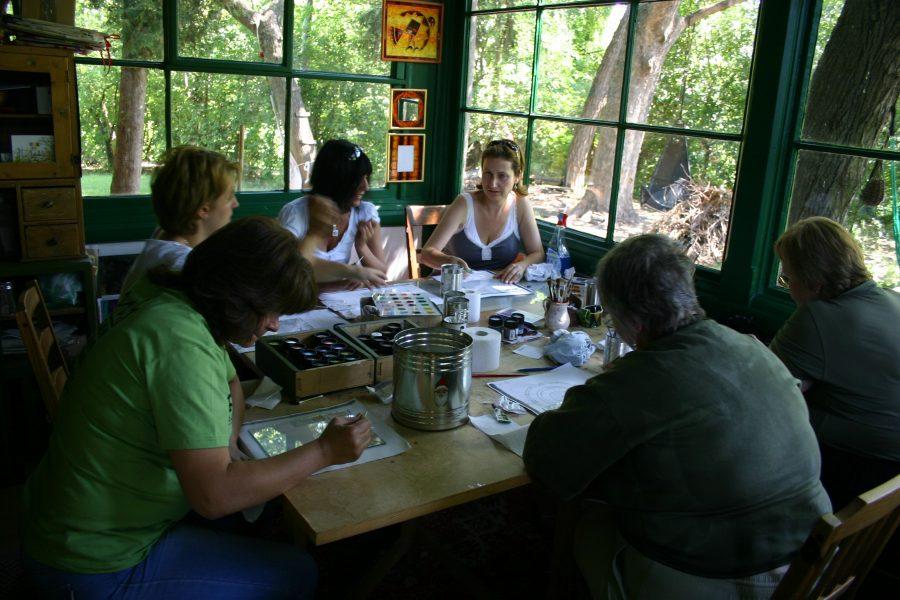Az első üvegfestő tanfolyam Szentendrén
