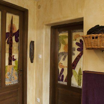 Beltéri ajtó Klee motívummal