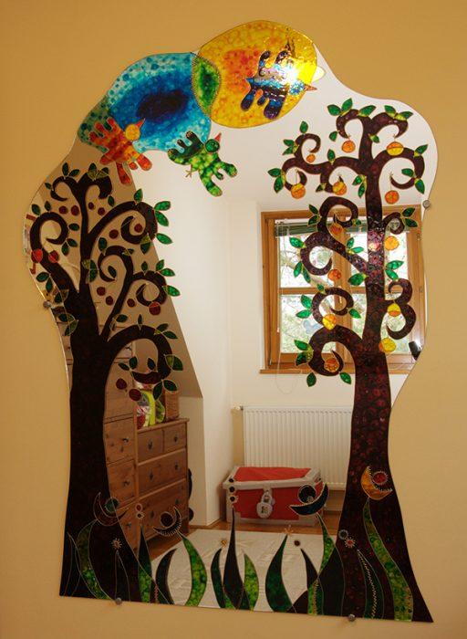 Festett tükör-gyümölcsöskert