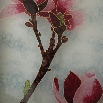 Magnóliák világító festmény